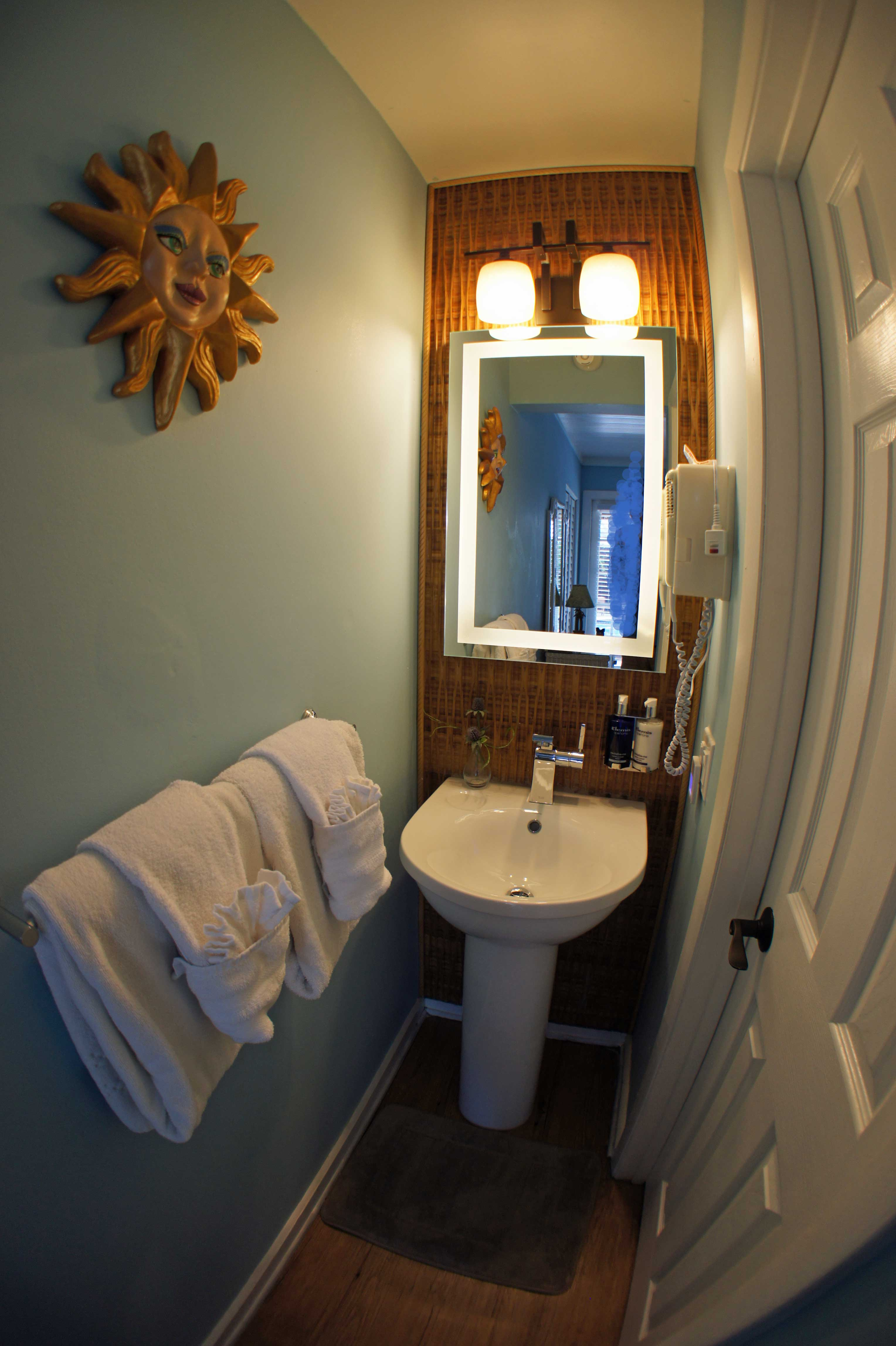 Bathroom of Our Poolside Queen Guest Room with Twin Bed in Key West
